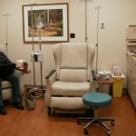 The Chemo Room .... and yes, that's my wife's purse on the floor next to me :)